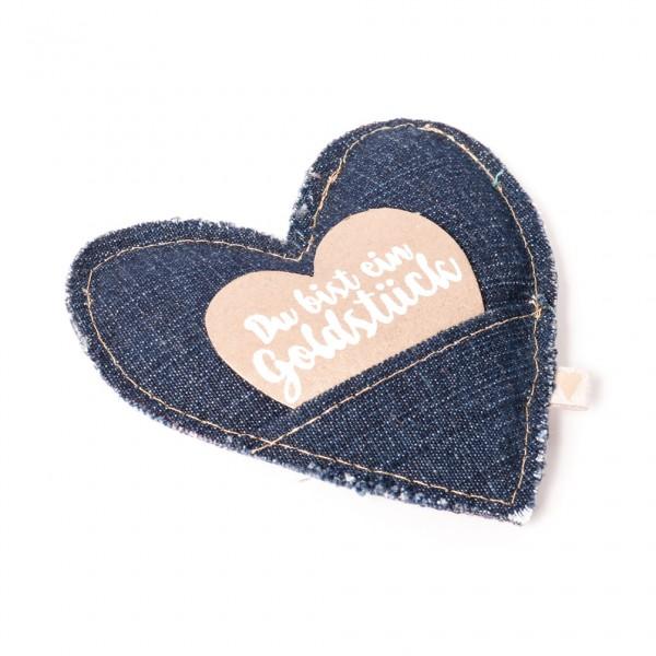"""Jeans Herz """"Du bist ein Goldstück"""""""