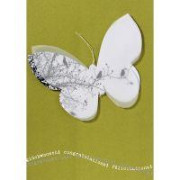 "Schmetterling Karte ""Glückwunsch"", Hellgrün"