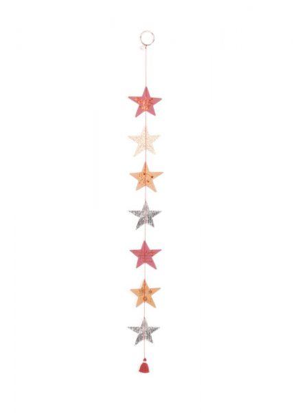 Wintersternkette - rot/silber