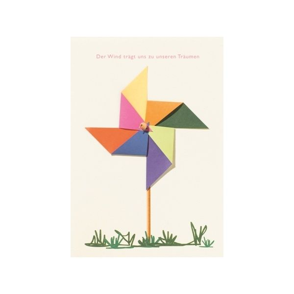 """Windrad Karte """"Der Wind trägt uns zu unseren Träumen"""""""