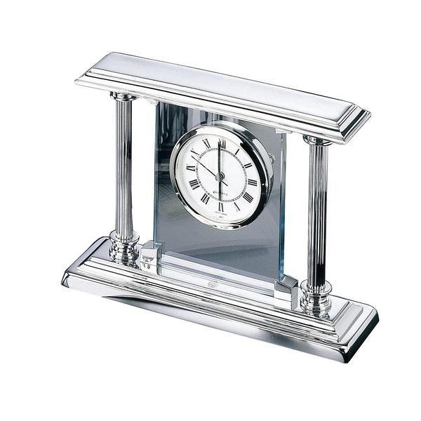 Kamin-Uhr - Edelchrom