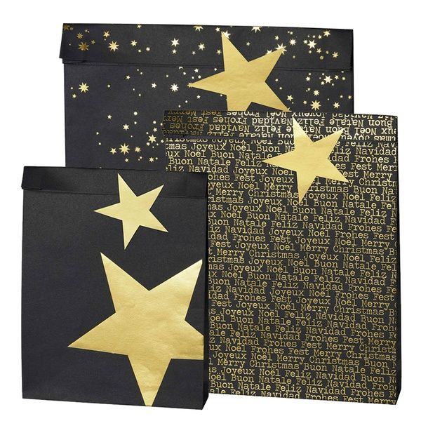 Black & Gold Geschenktüten Set