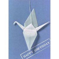 "Kranich Karte ""Happy Birthday"""