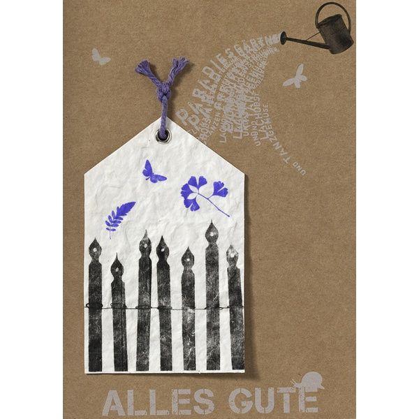 """Gartenhängerkarte """"Alles Gute"""""""
