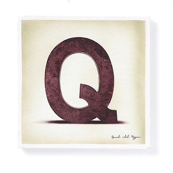 """Leinwand auf Holz - """"Q"""""""