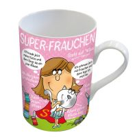 """Henkelbecher """"Super-Frauchen"""""""