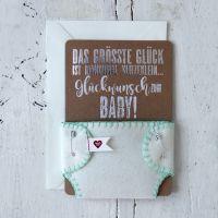 """Windelkarte """"Glückwunsch zum Baby"""""""