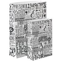 "Geschenktüten ""Buchstaben bedruckt"" 2er Set"