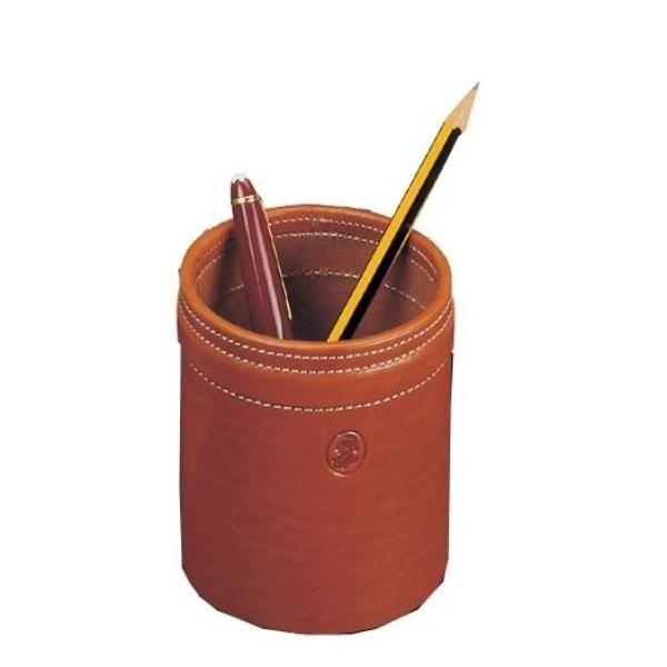 Stifteköcher Leder Cognac
