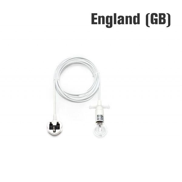 Kabel mit Fassung und Stecker für UK, 4 m